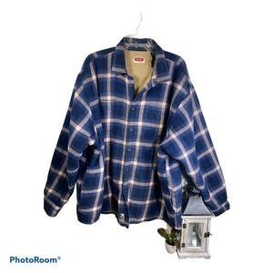 Wrangler Men's 3XL Flannel  Jacket Sherpa Lined